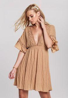 Ciemnobeżowa Sukienka Suntan