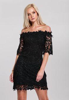 Czarna Sukienka Cut Off