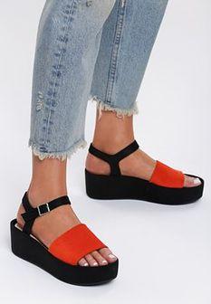 Pomarańczowe Sandały Back