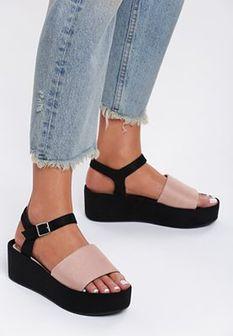 Jasnoróżowe Sandały Back