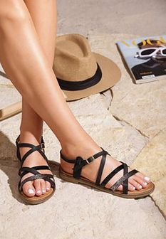 Czarne Sandały Regretful