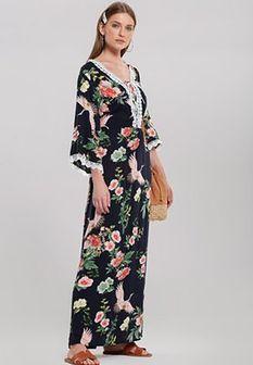 Granatowa Sukienka Traits