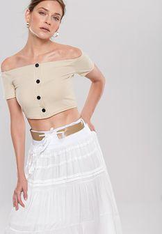 Biała Spódnica Pappy