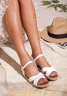 Białe Sandały Cushiony