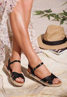 Czarne Sandały Cushiony