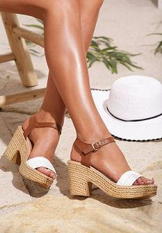 Białe Sandały Well-Mannered