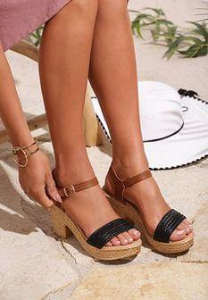 Czarne Sandały Well-Mannered