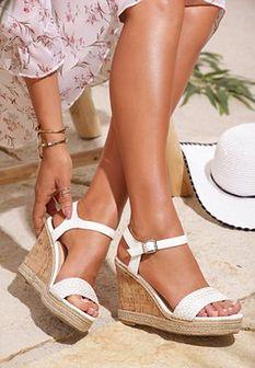 Białe Sandały Usable