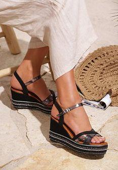 Czarne Sandały Style Mirror