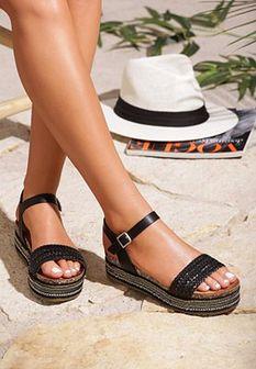 Czarne Sandały Inside Beauty
