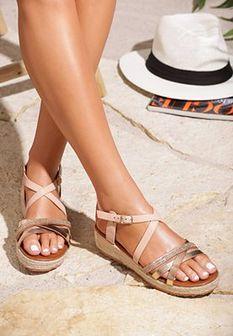 Różowe Sandały Color Touch