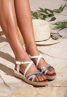 Białe Sandały Color Touch