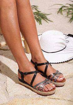Czarne Sandały Color Touch