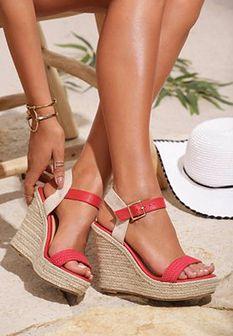 Czerwone Sandały Oasis Of Beauty