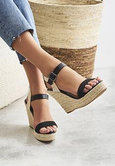 Czarne Sandały Oasis Of Beauty