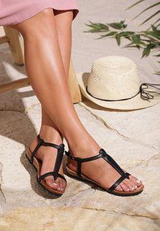 Czarne Sandały Kiss Of Summer