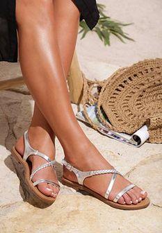 Srebrne Sandały Sprawl