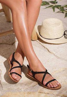 Czarne Sandały Sprawl