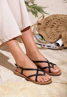 Czarne Sandały Chinook