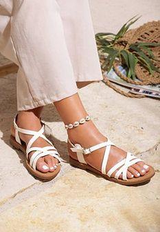 Białe Sandały Wafting