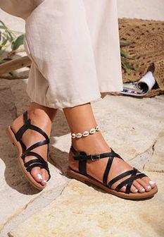 Czarne Sandały Wafting