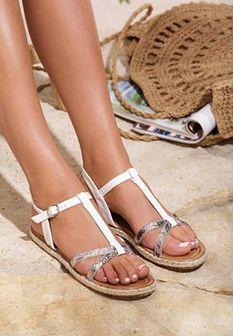 Białe Sandały Grama