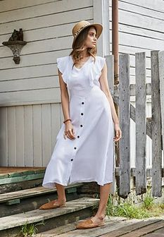 Biała Sukienka Camellia