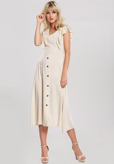Beżowa Sukienka Camellia