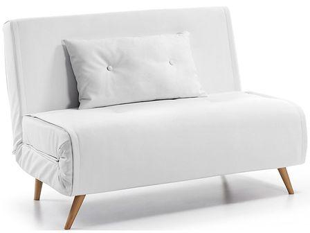 Sofa rozkładana Tupana 100x82 cm biała