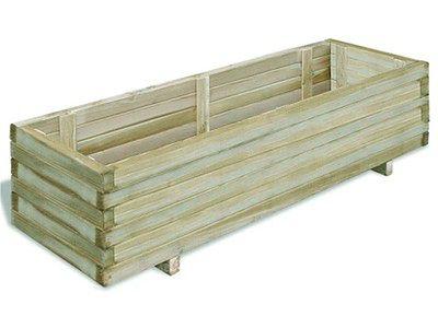 vidaXL Podwyższona donica, 120 x 40 x 30 cm, prostokątna, drewniana