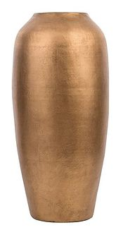 Wazon dekoracyjny złoty matowy ceramiczny 48 cm stołowy na kwiaty dekoracja styl vintage glamour