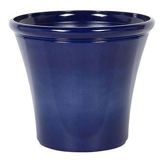 Doniczka niebieska mieszanka gliny 49 x ⌀ 55 cm na zewnątrz