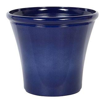 Doniczka niebieska mieszanka gliny 40 x ⌀ 46 cm na zewnątrz