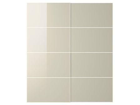 IKEA HOKKSUND Drzwi przesuwne, połysk jasnobeżowy, 200x236 cm