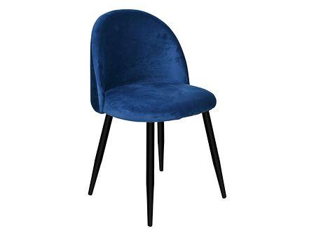 Krzesło tapicerowane Soul Velvet granatowy