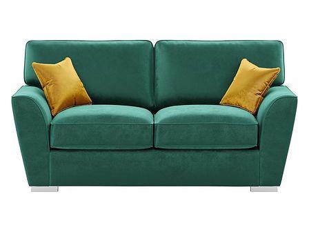 Sofa 2,5-osobowa z dopasowanymi poduszkami oparciowymi Majestic