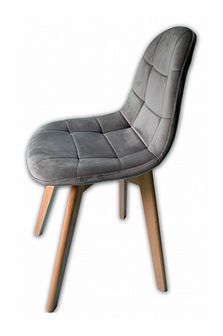 Krzesło Westa welurowe velvet szare