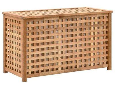 Skrzynia na pranie z drewna Kastilo 2X