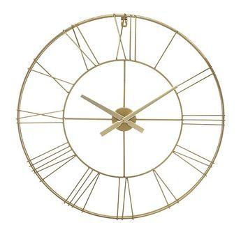Okrągły zegar ścienny z metalu 3D, Ø 70 cm, złoty