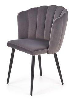 SELSEY Krzesło tapicerowane Arugula szare