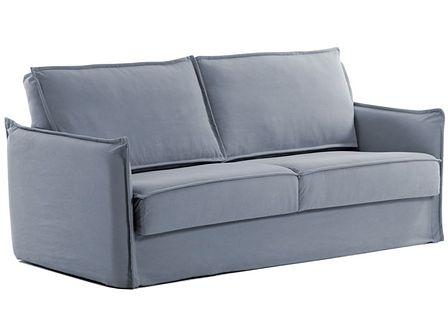 Sofa rozkładana Samsa 182x92 cm niebieska pianka poliuretanowa