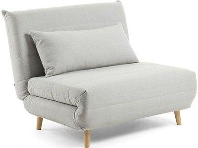 Sofa rozkładana Ambito 107x91cm jasnoszara