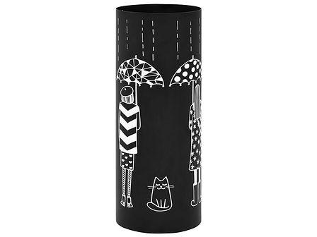Czarny ozdobny stojak na parasole do przedpokoju - Istro 3S