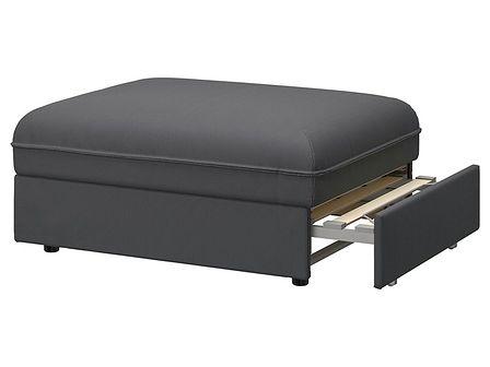 IKEA VALLENTUNA Moduł sofy rozkładanej, Kelinge antracyt, Szerokość: 80 cm