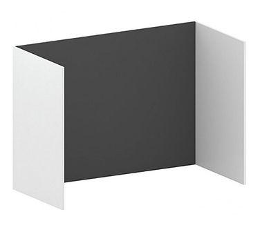 Samodzielna ścianka działowa FUTURE, 1200 x 1739 x 820, grafit/biały