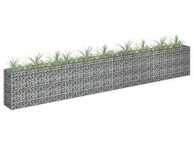 vidaXL Podwyższona donica gabionowa, galwanizowana stal, 360x30x60 cm