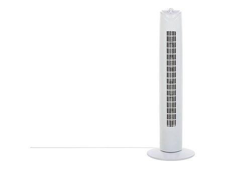 Wentylator kolumnowy biały materiał syntetyczny 80 cm 3 prędkości wiatrak do salonu