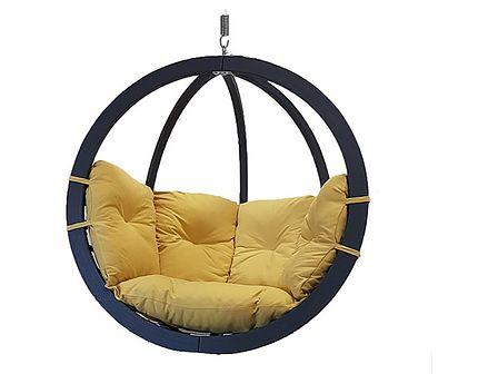 Fotel hamakowy drewniany, Swing Chair Single antracyt
