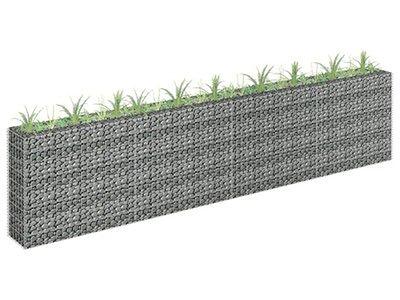 vidaXL Podwyższona donica gabionowa, galwanizowana stal, 360x30x90 cm