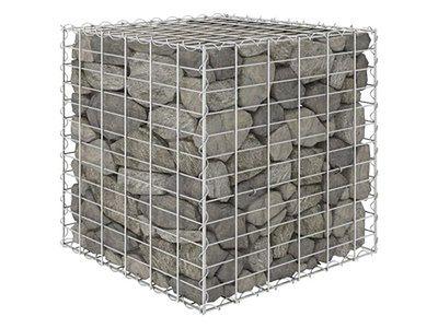 vidaXL Podwyższona donica gabionowa kostka, drut stalowy, 60x60x60 cm